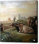 Country Landscapes With Cows Acrylic Print