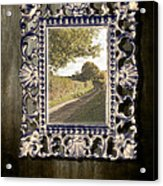 Country Lane Reflected In Mirror Acrylic Print by Amanda Elwell