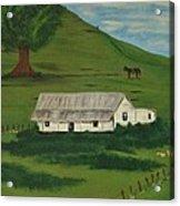Country Life Acrylic Print by Melanie Blankenship