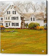 Country Moments-farmhouse In Woodstock Vermont Acrylic Print