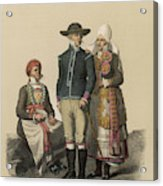 Country People From Ingelstad Acrylic Print