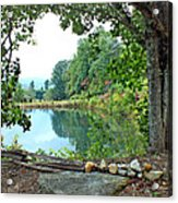 Country Pond Acrylic Print