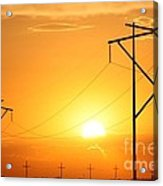 Country Powerline's Acrylic Print