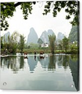 Country Side In Southern China Acrylic Print
