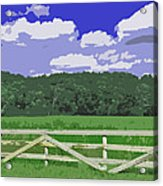 Countryside Scene Digital Painting Acrylic Print