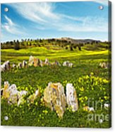 Countryside With Stones Acrylic Print