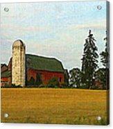 County Barn - Digital Painting Effect Acrylic Print