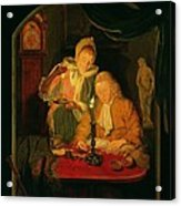 Couple Counting Money By Candlelight, 1779 Panel Acrylic Print