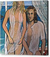 Couple In Beachhouse Acrylic Print