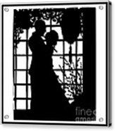Couple In Love Silhouette Acrylic Print