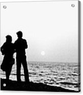 Couple Looking Out To Sea Acrylic Print