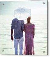 Couple On The Beach Acrylic Print