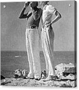 Couple On The Maine Shore Acrylic Print