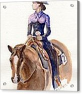 Horse Painting Cowgirl Courage Acrylic Print