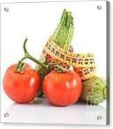 Courgettes And Tomatoes Acrylic Print