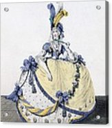 Court Dress, Fig. 106 From The Gallery Acrylic Print