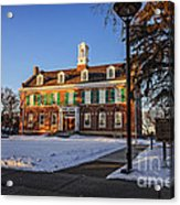 Court House In Winter Time Acrylic Print