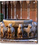 Court Of The Lions In The Alhambra Acrylic Print