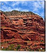 Courthouse Butte Rock Formation Sedona Arizona Acrylic Print by Amy Cicconi