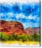 Courthouse Butte Sedona Arizona Acrylic Print by Amy Cicconi