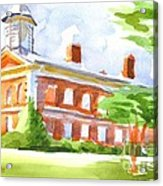 Courthouse In Summery Sun Acrylic Print