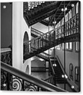 Courthouse Staircases Acrylic Print