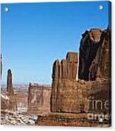 Courthouse Towers Arches National Park Utah Acrylic Print