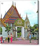 Courtyard In Wat Po In Bangkok-thailand Acrylic Print