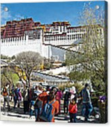 Courtyard Of Potala Palace In Lhasa-tibet Acrylic Print