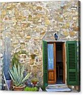 Courtyard Of Tuscany Acrylic Print
