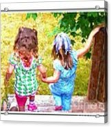 Cousins Helping Each Other Acrylic Print