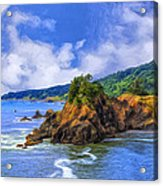 Cove On The Oregon Coast Acrylic Print