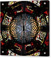 Coventry Cathedral Windows Montage Acrylic Print