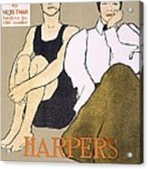 Cover Of Harpers Magazine, 1896 Acrylic Print