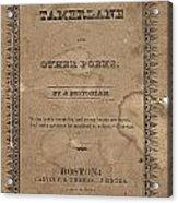 Cover Of Tamerlane Acrylic Print