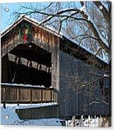 Covered Bridge At Christmas Acrylic Print