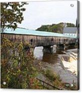 Covered Bridge  Bath Acrylic Print