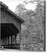 Covered Bridge Black And White Acrylic Print