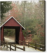 Covered Bridge Acrylic Print by Cindy Rubin