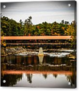 Covered Bridge Conway New Hampshire Acrylic Print