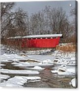 covered bridge Everett rd. Acrylic Print