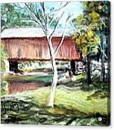 Covered Bridge Newport Nh Acrylic Print