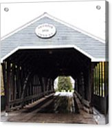 Covered Bridge North Conway Sacco River Acrylic Print