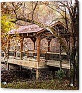 Covered Bridge On The River Walk Acrylic Print
