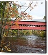 Covered Bridge Over Swift River Acrylic Print