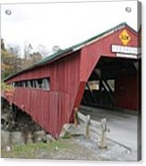 Covered Bridge Taftsville Acrylic Print