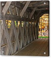 Covered Bridge Acrylic Print by Victoria Sheldon