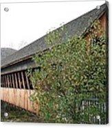 Covered Bridge - Woodstock - Vermont Acrylic Print
