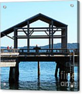 Covered Pier At Port Townsend Acrylic Print