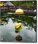 Covered Stones With Umbrella In Ritual Acrylic Print